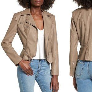 NWOT Blank NYC Faux Leather Moto Jacket